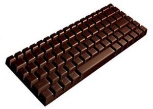 לכתוב על שוקולד רק על מקלדת שוקולד